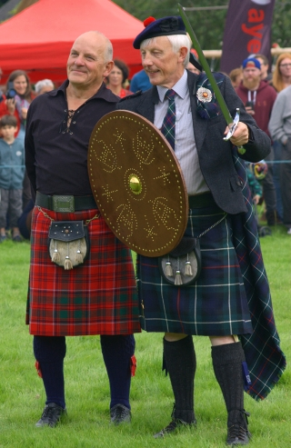 Chieftain Colin MacKenzie and Chairman Charlie Grant